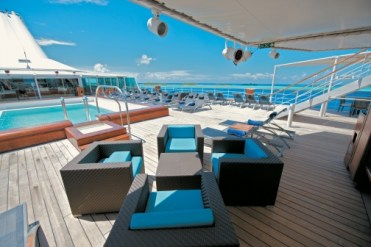 Paul Gauguin cruises cruise ship pool seating