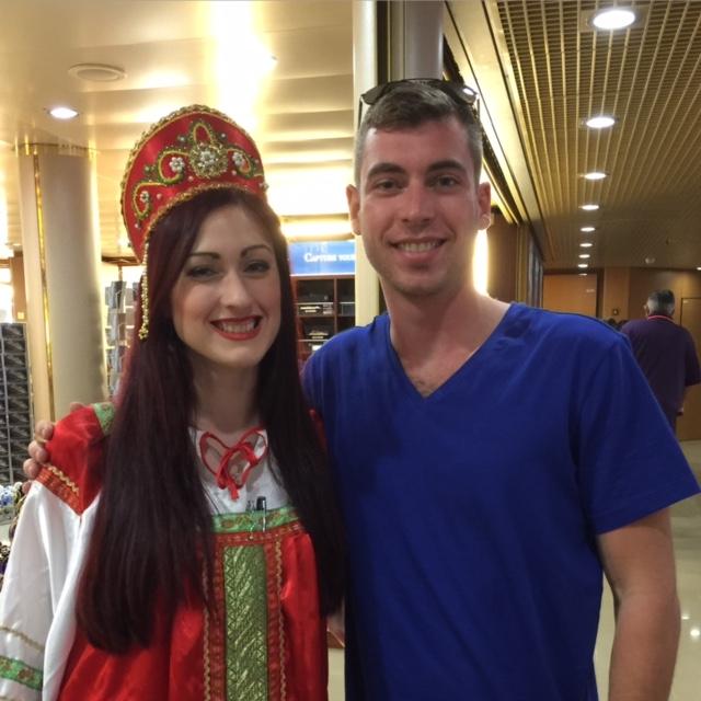 Holland America Line Eurodam gift shop lady in costume Russia