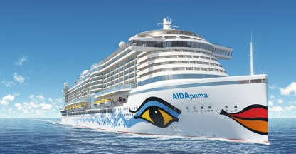aidaprima cruise ship exterior