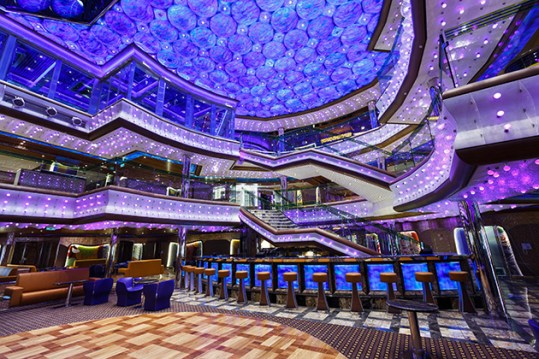 Costa Cruise Diadema cruise ship atrium bar