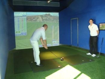 Cruise ship golf driving range simulator
