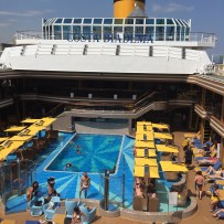 Costa Cruise Diadema cruise ship main pool
