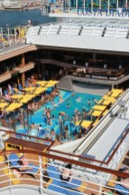 Costa Cruise Diadema cruise ship pool