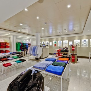 Norwegian cruises escape cruise ship lacoste shop