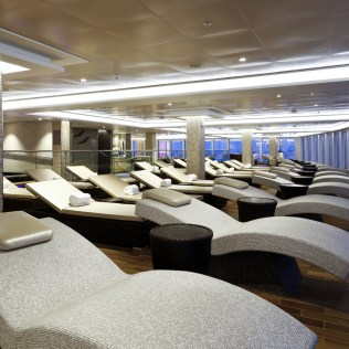 Norwegian cruises escape cruise ship thermal suite loungers
