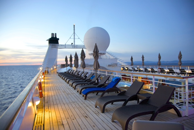 Windstar Cruise Star Pride top deck loungers