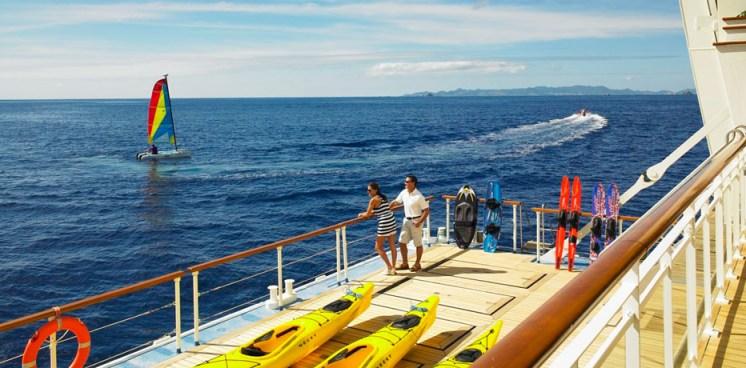 Residensea The World cruise ship kayaks