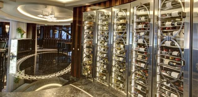 Residensea cruises The World cruise ship wine cooler