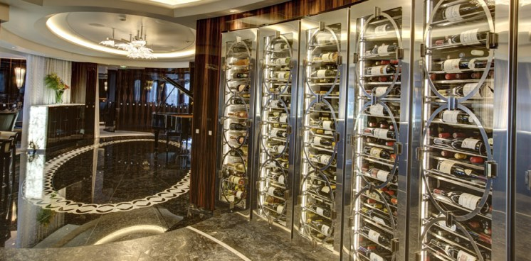 Residensea cruises The World cruise ship wine cooler