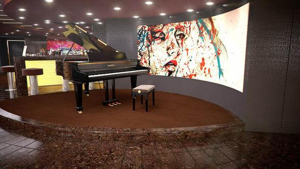 msc meraviglia cruise ship piano