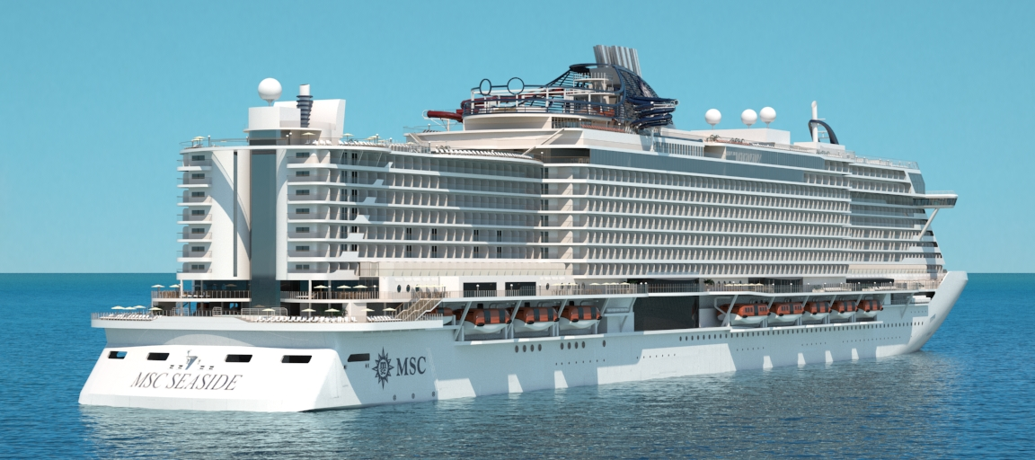 MSC Seaside dares to be different with a bold new design