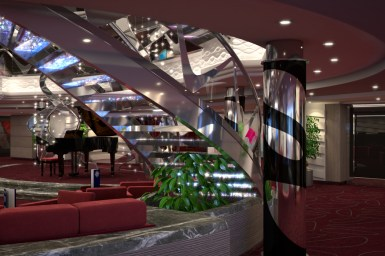 msc meraviglia cruise ship staircase
