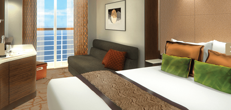 Dream Cruises Genting Dream cruise ship cabin bed