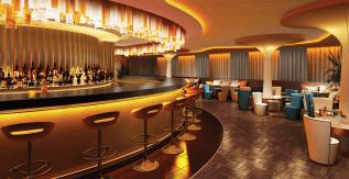 Dream Cruises Genting Dream cruise ship bar chair
