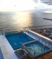 Viking Cruises Viking Star cruise ship aft pool sunset