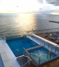 Viking Cruises Viking Star cruise ship aft pool sunset