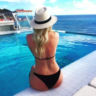 Viking Cruises Viking Star cruise ship girl beside pool