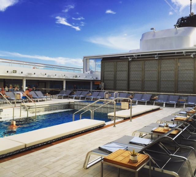 Viking Cruises Viking Star cruise ship mid pool starboard side