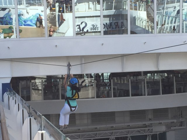 Royal Caribbean Cruises Harmony of the Seas cruise ship Cruiseguru ziplining platform