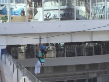 Royal Caribbean Cruises Harmony of the Seas cruise ship Cruiseguru ziplining platform