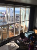 Royal Caribbean Cruises Harmony of the Seas cruise ship cabin view of ziplining