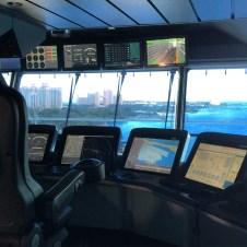 Royal Caribbean Cruises Harmony of the Seas cruise ship bridge tour