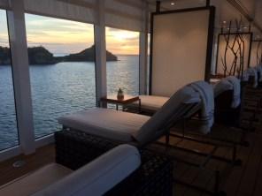 Viking Cruises Viking Star cruise ship pool lounger sunset