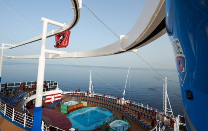 Carnival Cruises Vista cruise ship skyrider dual track