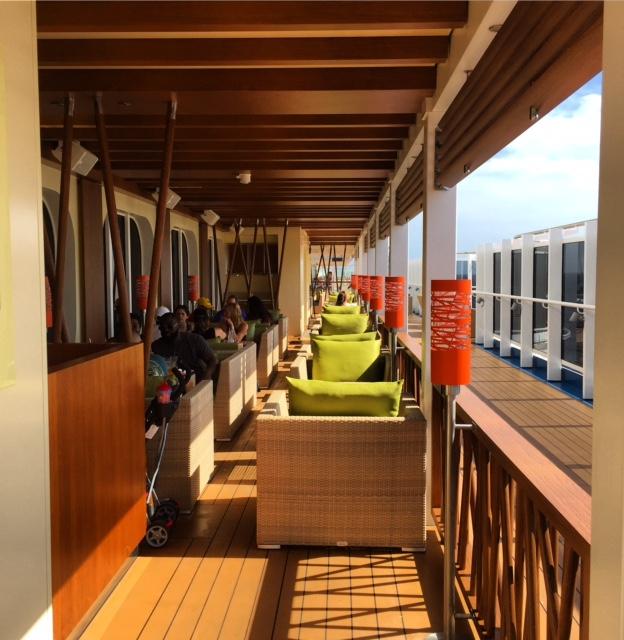 Carnival Cruises Vista cruise ship outdoor dining