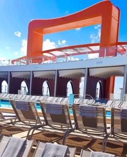 celebrity cruises edge cruise ship magic carpet handle