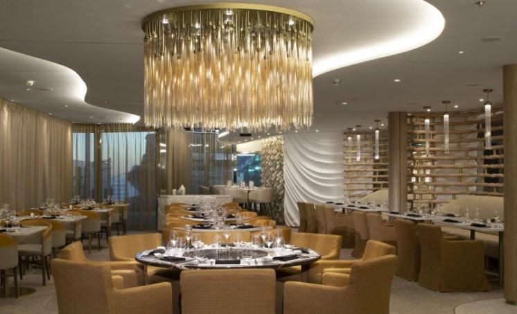 Celebrity cruises edge chandelier
