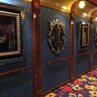 Norwegian cruises Jade cruise ship Norway theatre hall mirrors