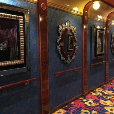 Norwegian cruises Jade cruise ship Norway theatre hall mirrors