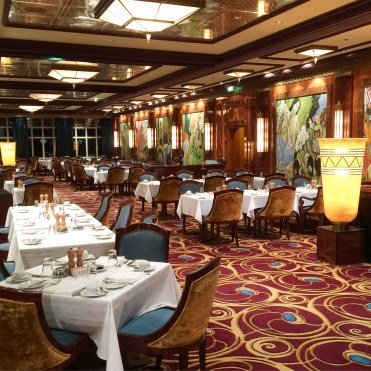 Norwegian Jade dining room
