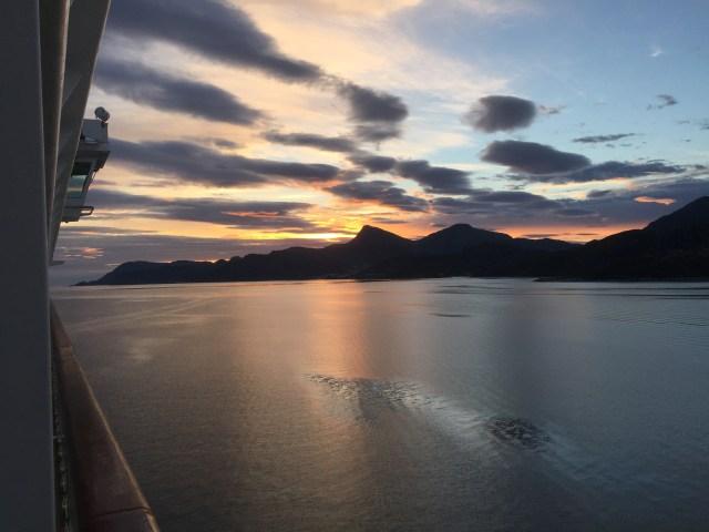 Norwegian cruises Jade cruise ship Norway sunset