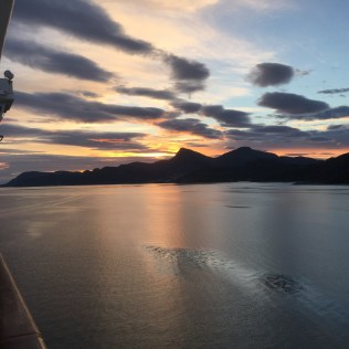 Norwegian cruises Jade cruise ship Norway sunset