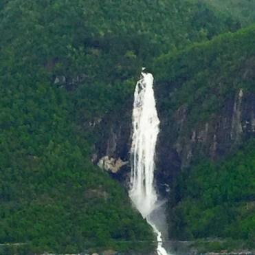 Norwegian cruises Jade cruise ship Norway waterfall