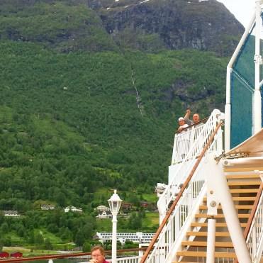 Norwegian cruises Jade cruise ship Norway deck view