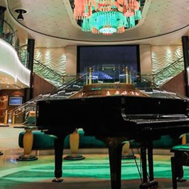 Norwegian cruises jade atrium piano