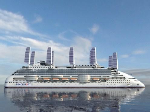 Peaceboat Ecoship cruises solar sails