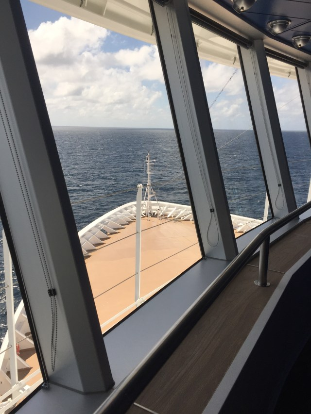Viking cruises sky cruise ship bow view
