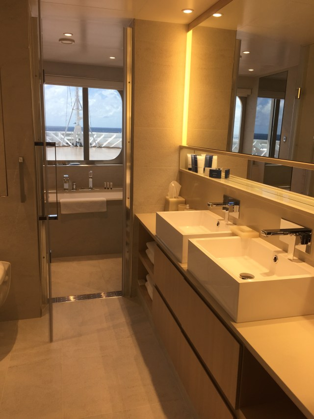 Viking cruises sky cruise ship owners suite bathroom sinks