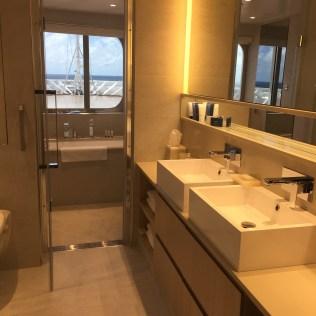 Viking cruises sky cruise ship owners suite bathroom sinks
