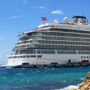 Viking cruises sky cruise ship aft exterior