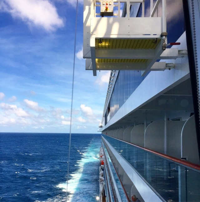 Viking cruises sky cruise ship window washing