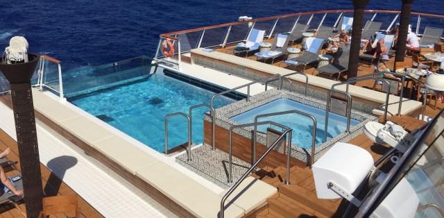 Viking Sky cruise ship aft pool side view