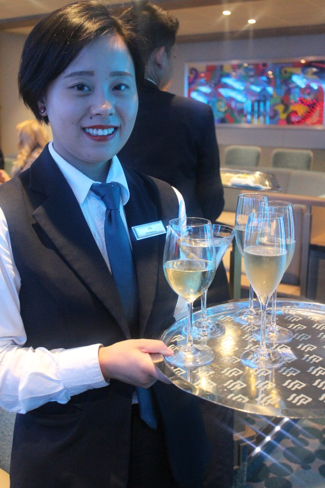 Silversea cruises silver muse cruise ship champagne