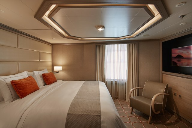 Silversea cruises silver muse cruise ship royal suite bed