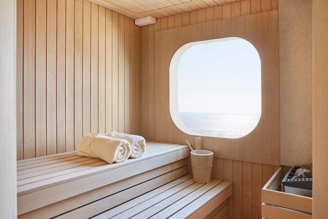 Silversea cruises silver muse cruise ship sauna