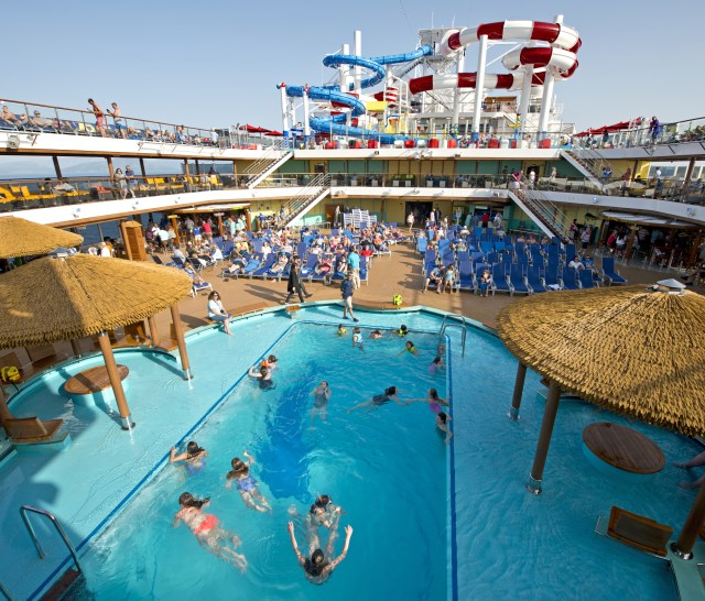Carnival cruises Horizon cruise ship main pool
